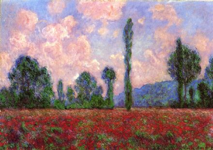 Monet, Claude: Landscape of Vernon. Fine Art Print/Poster. Sizes: A4/A3/A2/A1 (00765)
